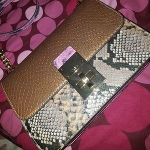 EUC gorgeous fake snakeskin Aldo Shoes Satchel Bag